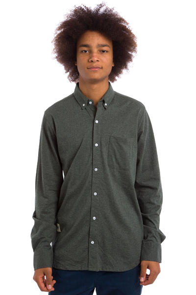 Wemoto Shaw Shirt (dark grey melange)