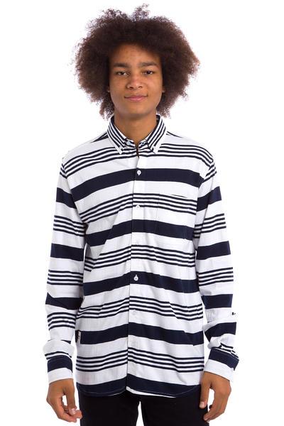 Wemoto Shaw Stripe Shirt (white navyblue)