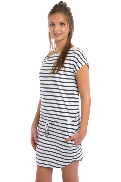 Wemoto Kano Stripe Kleid women (white darkgrey melange)