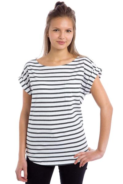 Wemoto Bell Stripe T-Shirt women (white darkgrey melange)