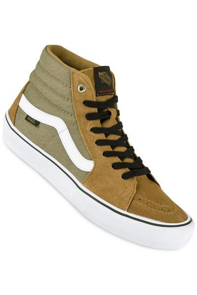 Vans Sk8-Hi Pro Shoe (covert green white)