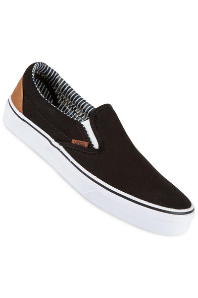 Vans Classic Slip-On Schuh (black stripe denim)