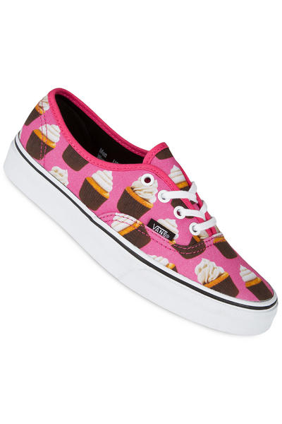 Vans Authentic Shoe women (late night hot pink cupcakes)