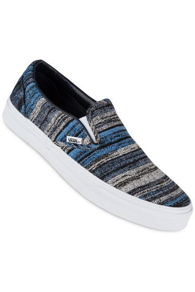 Vans Classic Slip-On Schuh (italian weave blue)