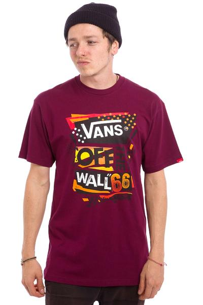 Vans Stenciled II T-Shirt (burgundy orange)