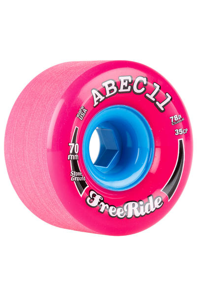 ABEC 11 Classic Freeride 70mm 78A Rueda (pink) Pack de 4