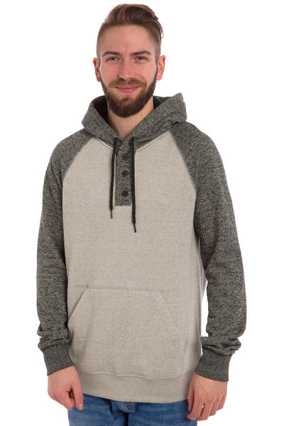 Element Meridian Henley Hoodie (smock grey charcoal heather)