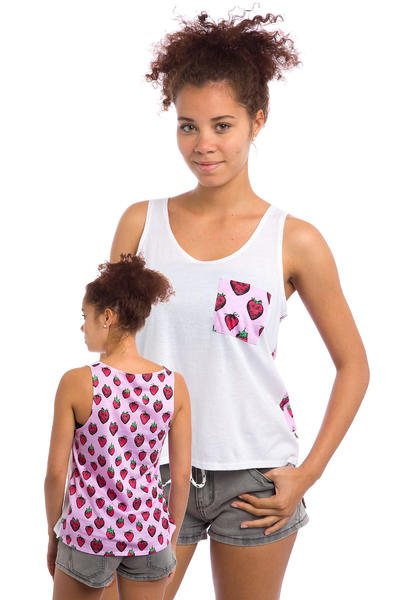 Vans Strawberried Pocket Tank-Top women (white strawberries)