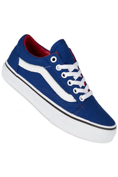 Vans Old Skool Canvas Shoe kids (true blue racing red)