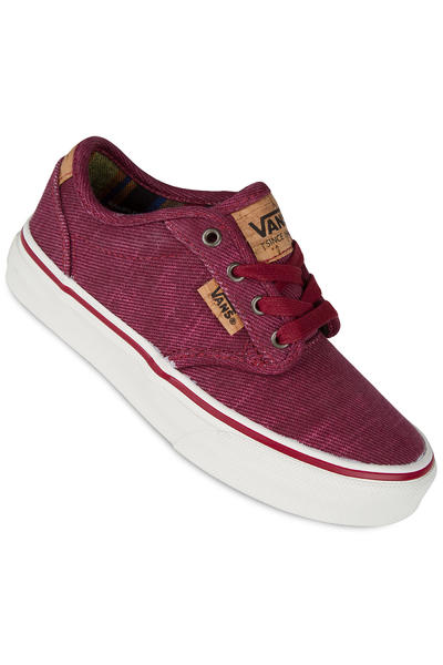 Vans Atwood Deluxe Schuh kids (washed twill red marshmallow)