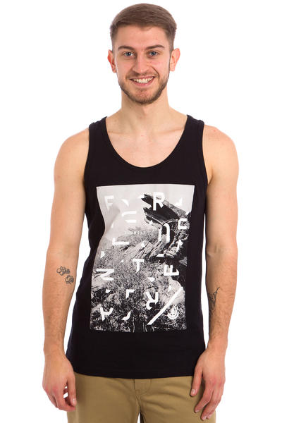 Element Cut Up Tank-Top (flint black)