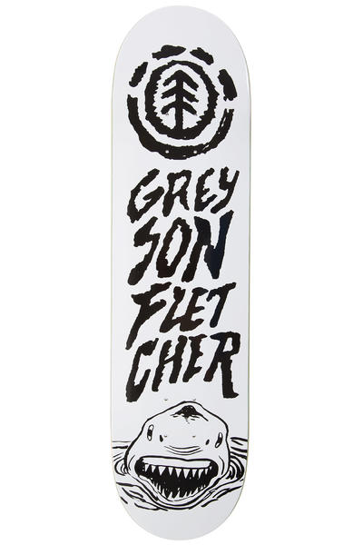 "Element Greyson Shark 8.125"" Deck (white black)"