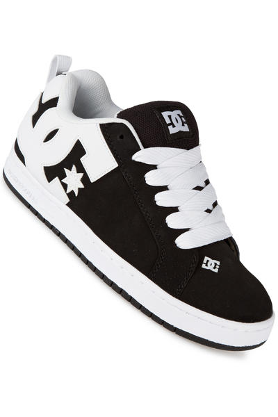 DC Court Graffik Shoe (black white black)