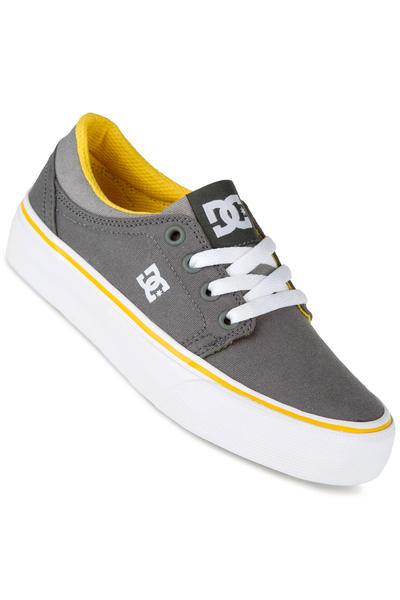 DC Trase TX Shoe kids (grey white yellow)