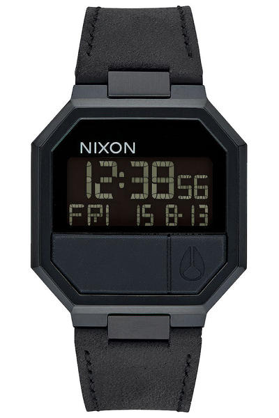 Nixon The Re-Run Leather Uhr (all black)