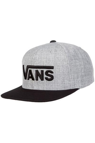 Vans Drop V Snapback Cap (heather grey black)