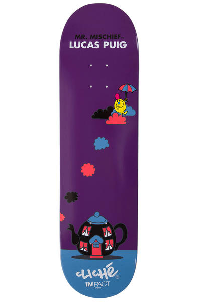 "Cliché Puig Mr. Men Impact Light 8.25"" Planche Skate (purple)"