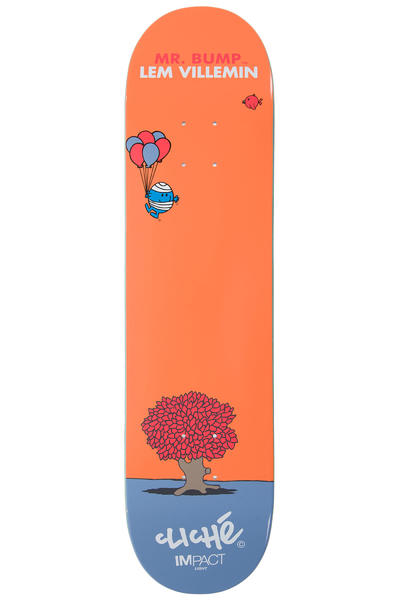 "Cliché Villemin Mr. Men Impact Light 7.75"" Deck (orange)"