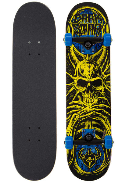 """Darkstar Roots Mid 7.375"""" Complete-Board (yellow blue)"""