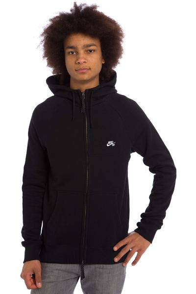Nike SB Everett Graphic Zip-Hoodie (black black white)