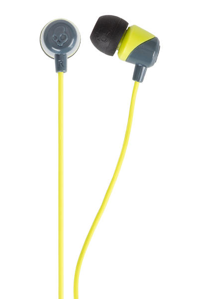 Skullcandy Jib Headphones (grey hotlime)