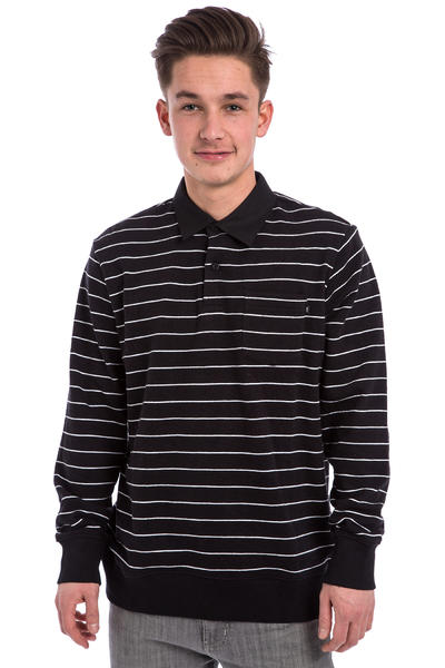 Obey Glassel Rugby Fleece Sweatshirt (black multi)