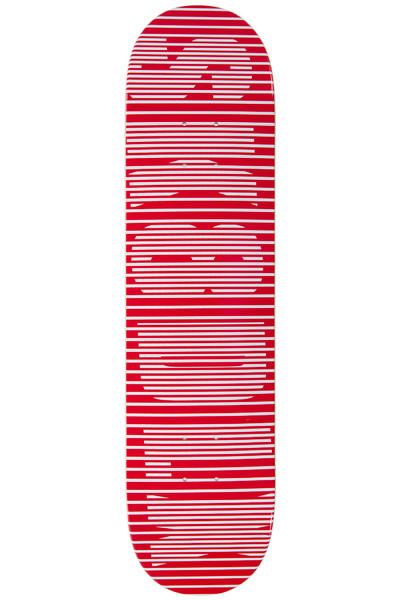 "SK8DLX Stripe Series 7.75"" Deck (red)"