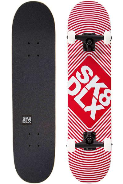 "SK8DLX Square Logo 7.75"" Complete-Board (red)"