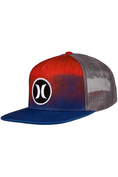 Hurley Block Party Hyper Flow Trucker Cap (bright crimson)