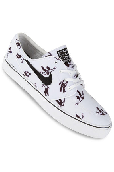 Nike SB Zoom Stefan Janoski Canvas Premium Shoe (white black)