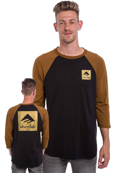 Emerica x Chocolate Raglan 3/4 Longsleeve (brown black)