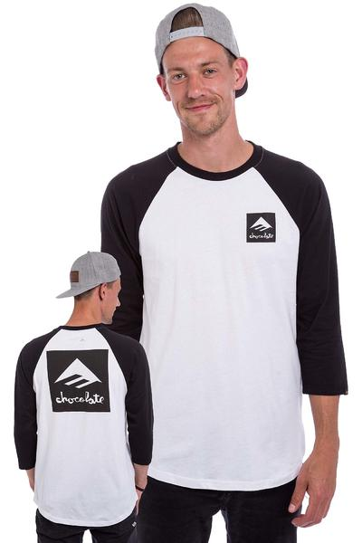 Emerica x Chocolate Raglan 3/4 Longsleeve (black white)