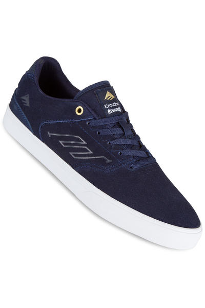 Emerica The Reynolds Low Vulc Suede Shoe (navy white gold)