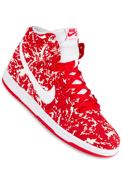 Nike SB Dunk High Premium Schuh (challenge red white)