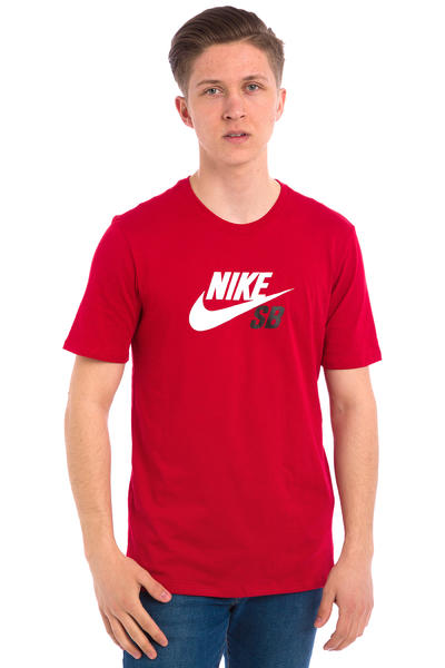 Nike SB Dri-FIT Icon Logo T-Shirt (gym red)