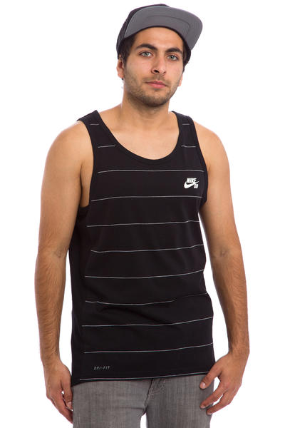 Nike SB Dri-FIT Yarn Dye Tank-Top (black white)