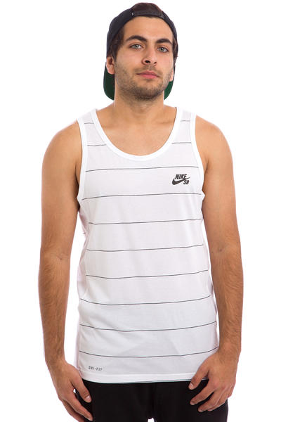 Nike SB Dri-FIT Yarn Dye Tank-Top (white black)