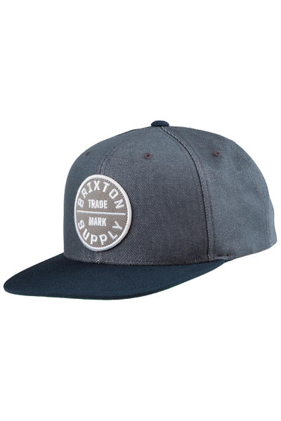 Brixton Oath III Snapback Cap (light blue dark navy)