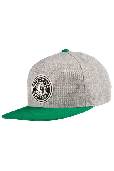 Brixton Rival Snapback Cap (heather grey hunter)