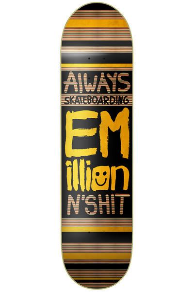 "EMillion Always Skateboarding 7.75"" Deck (black yellow)"