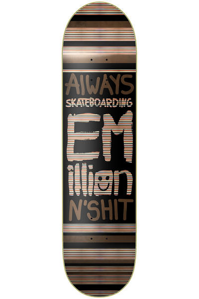 "EMillion Always Skateboarding 7.875"" Deck (black)"