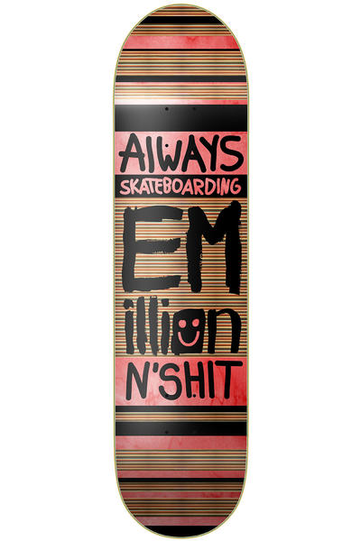 "EMillion Always Skateboarding 8.25"" Deck (black red)"
