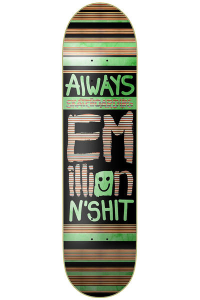 "EMillion Always Skateboarding 8.375"" Deck (black green)"