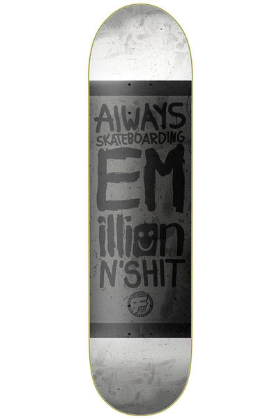 "EMillion Always Skateboarding Vintage Fibertech 7.875"" Deck (black white)"