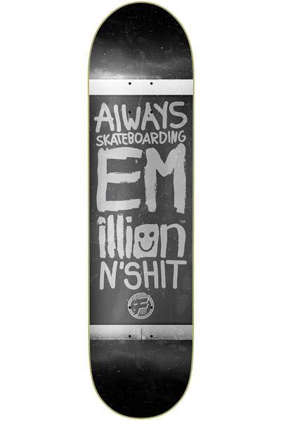 "EMillion Always Skateboarding Vintage Fibertech 8.25"" Deck (black)"