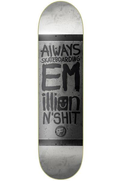 "EMillion Always Skateboarding Vintage Fibertech 8.375"" Deck (white grey)"