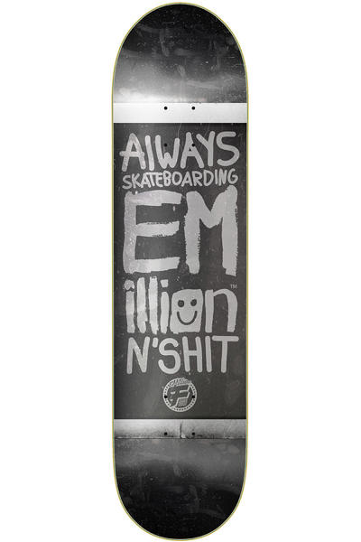 "EMillion Always Skateboarding Vintage Fibertech 8.5"" Deck (black)"