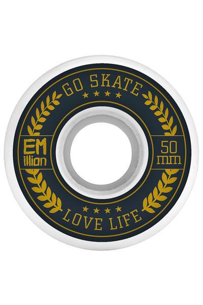 EMillion Go Skate Love Life 50mm Rollen (white) 4er Pack