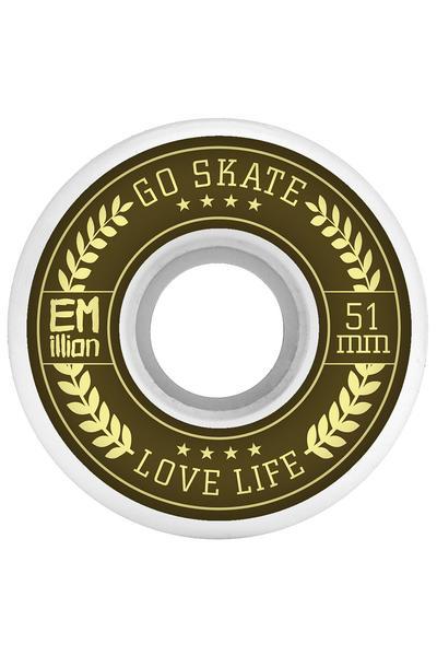 EMillion Go Skate Love Life 51mm Rollen (white) 4er Pack