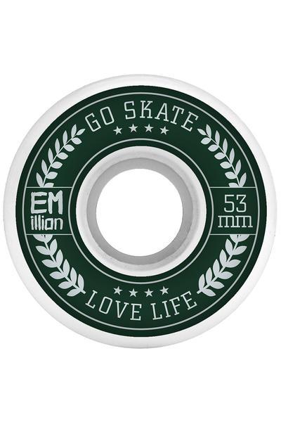 EMillion Go Skate Love Life 53mm Rollen (white) 4er Pack